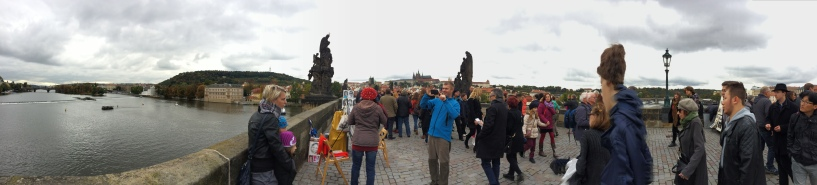 Panoramic view of the Charles Bridge