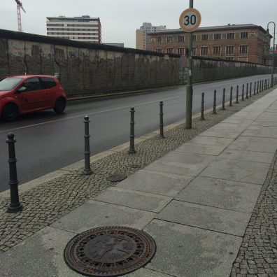Original part of the Berlin Wall in its Original Location